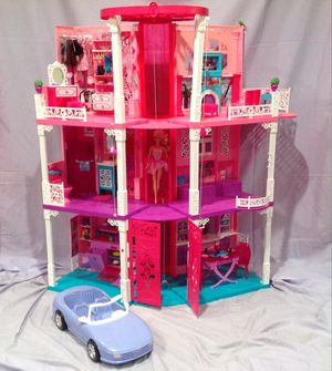 Photo 3-Story Barbie Dream House, RV Camper, Car, Rockstar Stage, and loads of accessories!