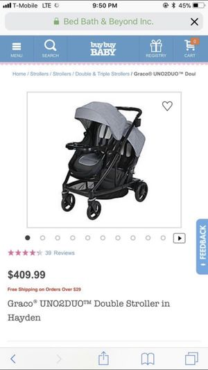 Graco Uno2Duo Double Stroller for Sale in Silver Spring, MD