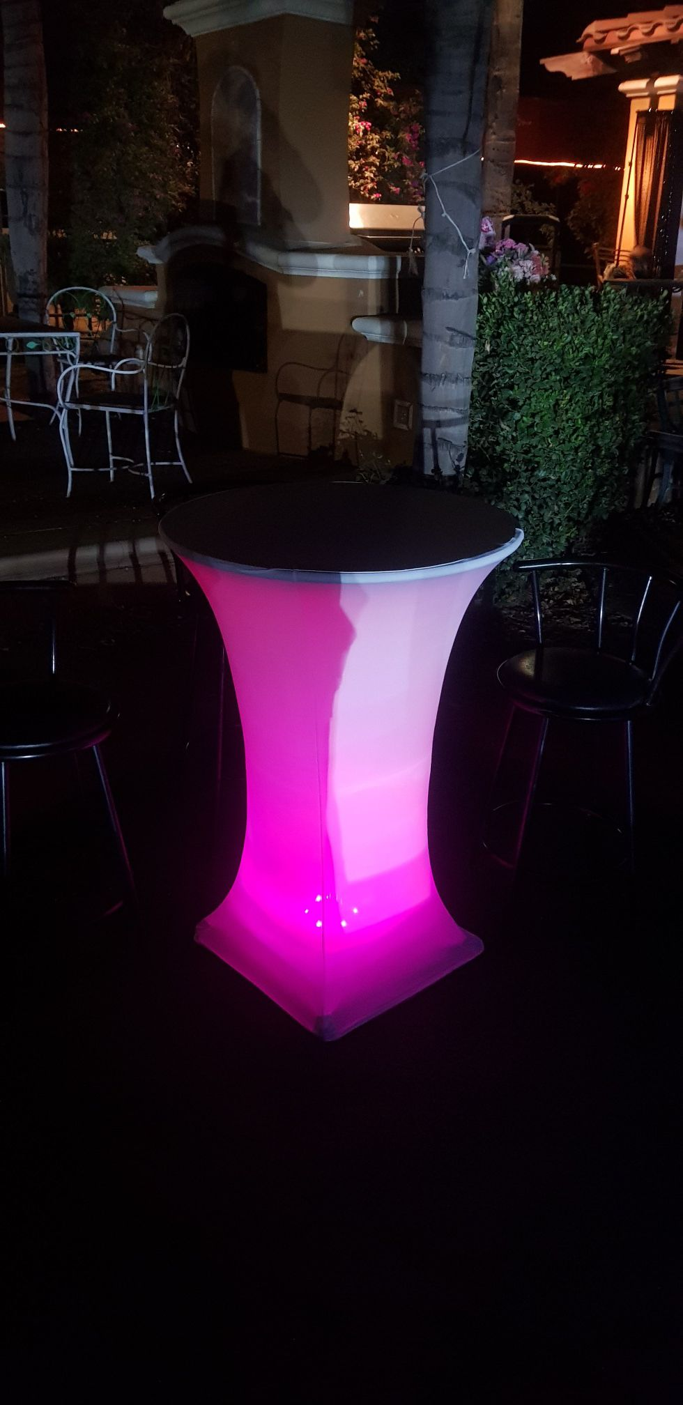 COCKTAIL TABLES HEATER BENCHES ARTIFICIAL GRASS LIGHTS