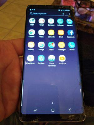 Samsung Galaxy note 8 att unlock crack screen for Sale in Paterson, NJ