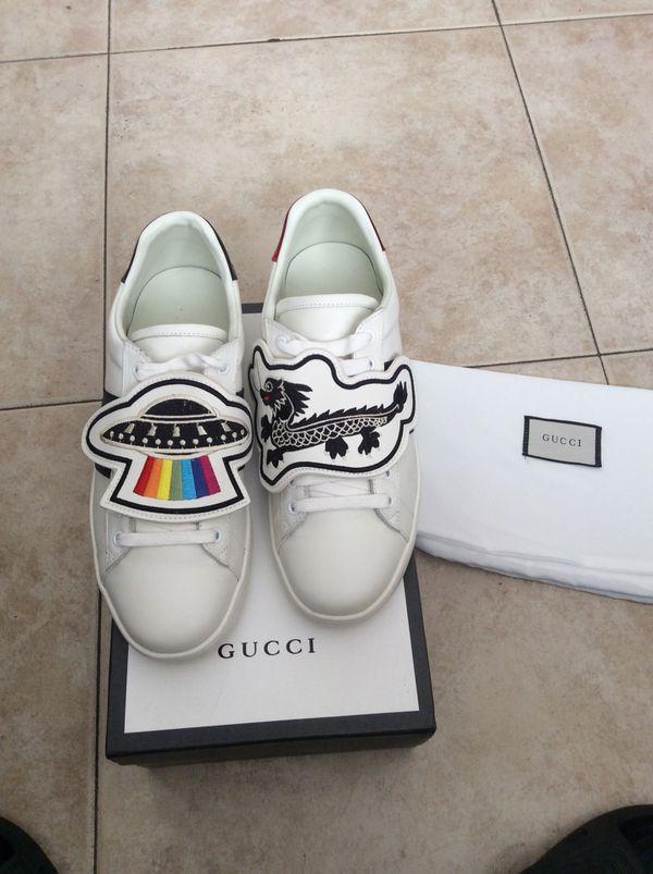 37e212e43701 New Gucci UFO   Dragon Patch Sneakers 100% Authentic for Sale in ...