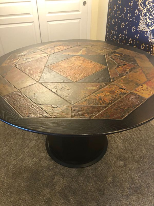 Solid Wood Dining Table With Tile Inlay For Sale In Arvada Co Offerup