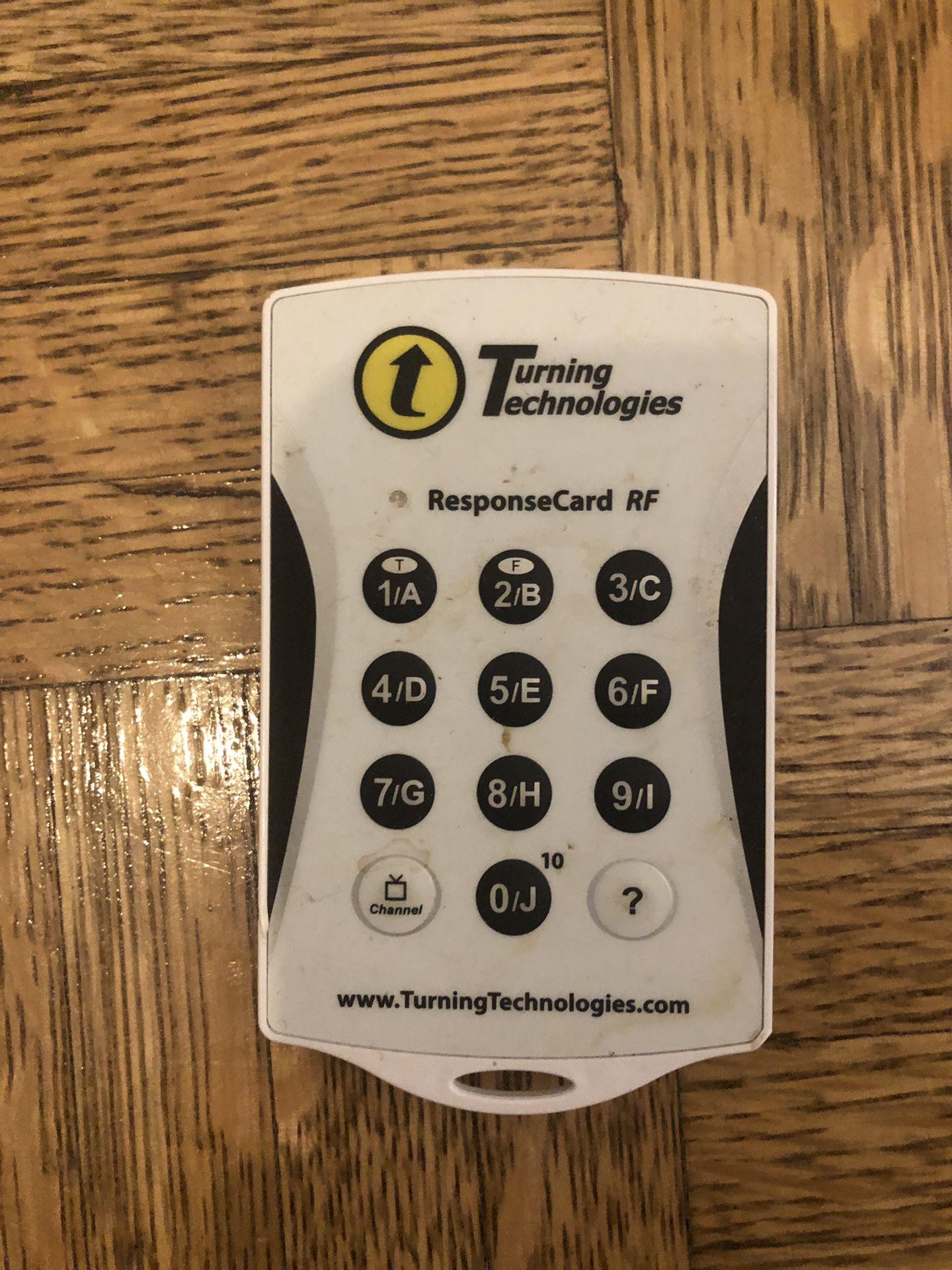 Turning technologies ResponseCard