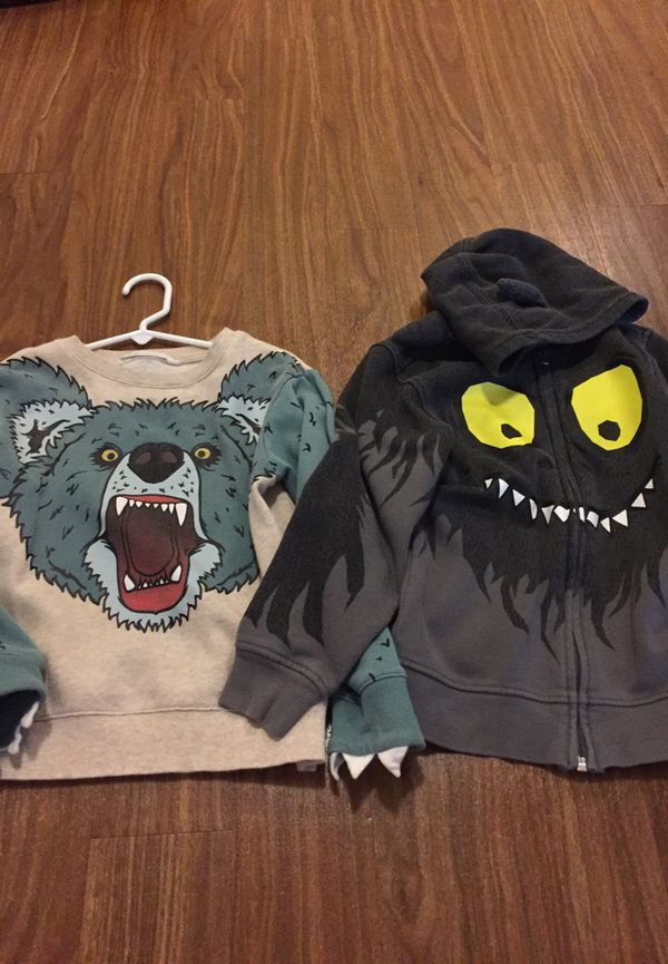 Hm Bear Sweatshirt And Monster Hoodie Kids Size 68 For Sale In
