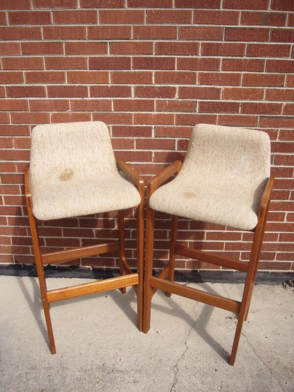 D Scan Scandinavian Danish Barstools Stools Chairs Teak For In Bloomingdale Il Offerup