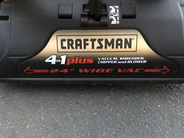 Craftsman 6 0hp 4 In 1 Plus Vacuum Shredder Chipper And