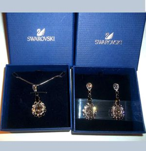 Authentic Swarovski Matching Necklace and Earrings for Sale in Germantown, MD
