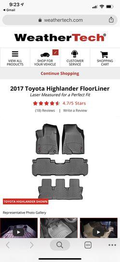 Weathertech - Toyota highlander floorliner (15 -19) Thumbnail