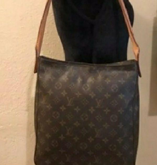 4baeb6d01003 Authentic Louis Vuitton Looping Gm Brown Monogram Canvas Shoulder ...