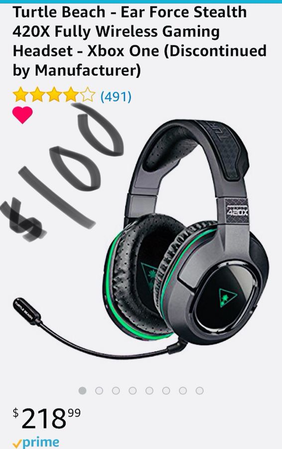 Turtle beach 420x gaming headset perfect condition (Games & Toys) in ...