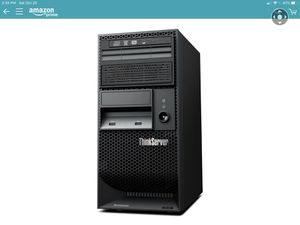 """Lenovo Think Server TS140 hardly used in mint condition with 20"""" monitor and Samsung 850 EVO 250 GB SD drive for Sale in Silver Spring, MD"""