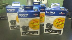 4pcs - 2 pack Brother LC61BK black ink cartridge in box for Sale in Tampa, FL