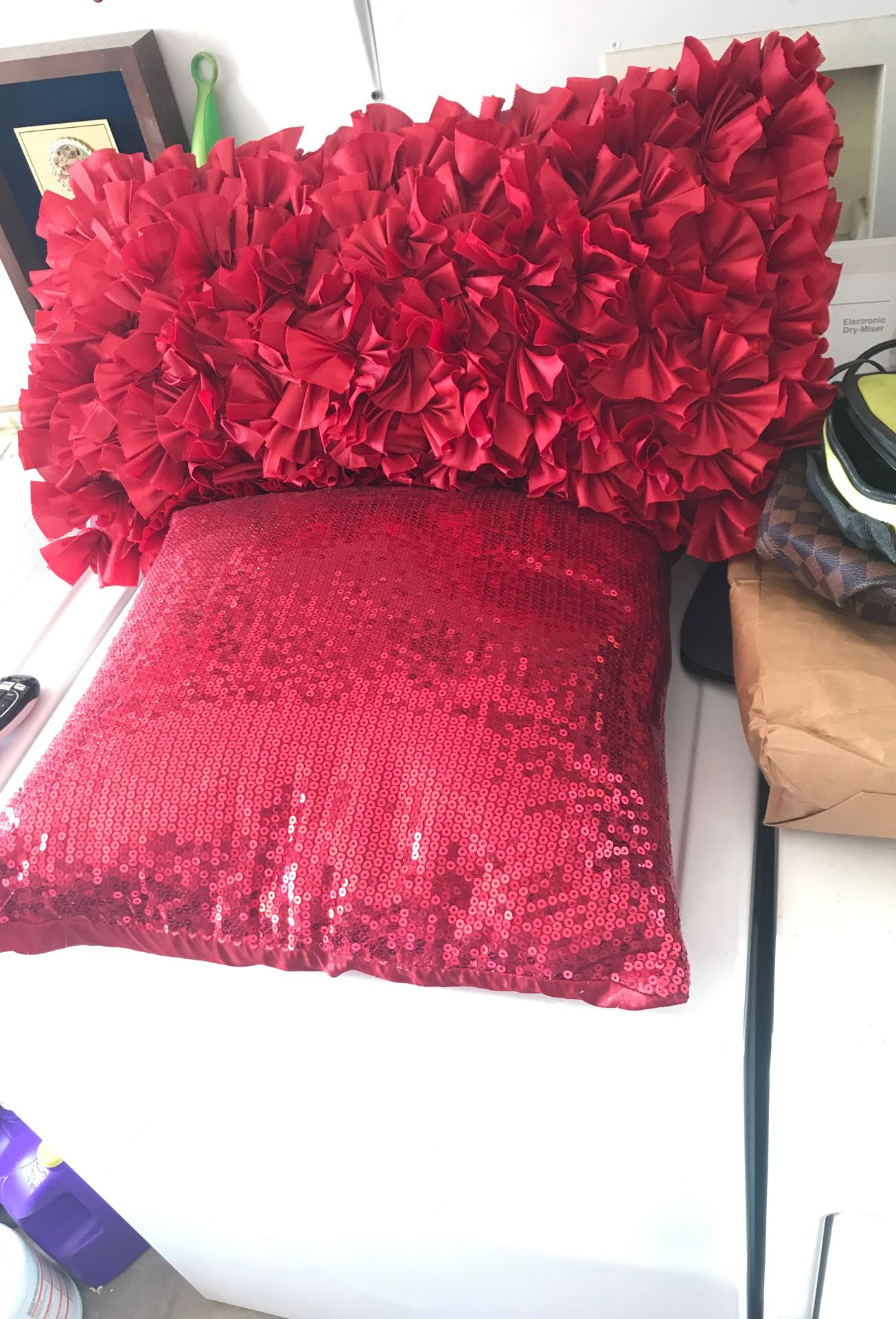 &15 two pretty in red pillows