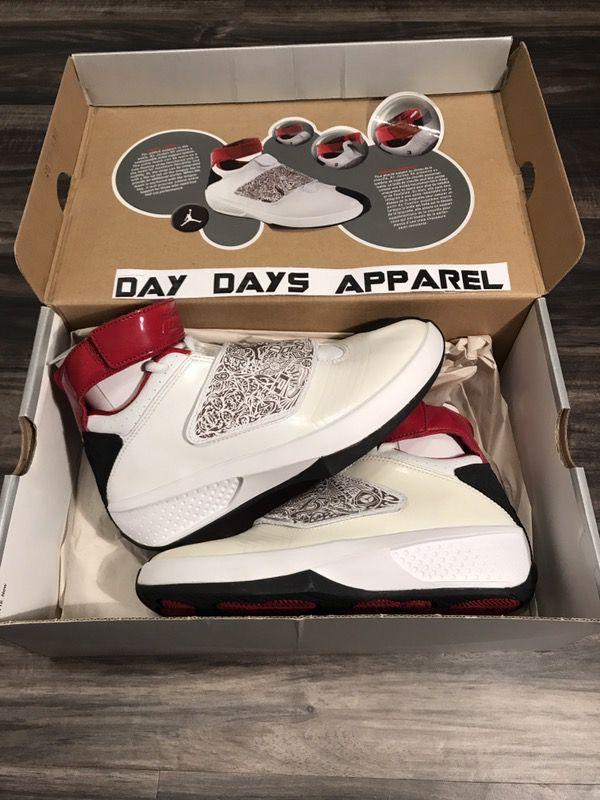 4d9c40fbfe5003 OG 2005 Nike Air Jordan XX 20 Laser White Varsity Red Sz 4 Youth DEADSTOCK  New