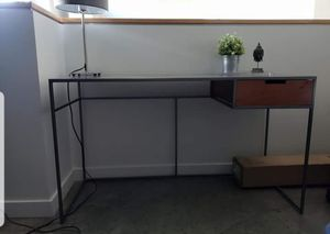 Crate & Barrel desk. Metal top and legs, 1 wood drawer. for Sale in Tampa, FL