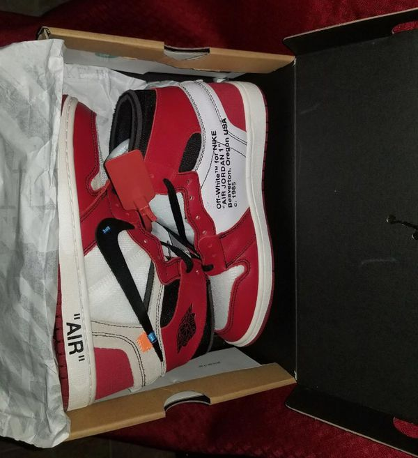 35b0d9c3ef22c Off-White x Nike Air Jordan 1s size 8 AUTHENTIC (Clothing   Shoes ...