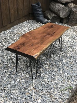 Solid Live Edge Slab Wood Coffee Table Modern Hairpin For In Allen Tx