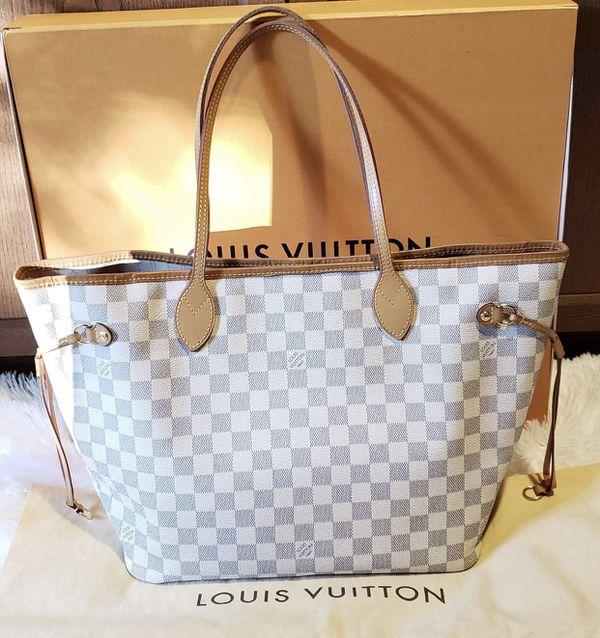 663c6a2dc057 Authentic Louis Vuitton Neverfull MM damier azur for Sale in Dallas ...
