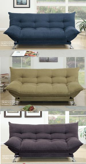 Los Angeles Ca 3 Colors Available Navy Willow Dark Coffee Couch Sofa Futon Bed For
