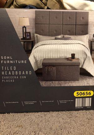 Queen Grey Sohl Tiled Headboard