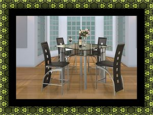 Counter height glass dining table with 4 chairs for Sale in Chevy Chase, MD