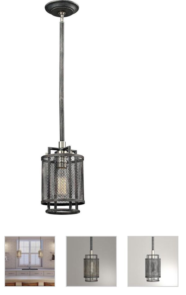 Home Decorators Collection 1-Light Silvered Graphite Restoration ...