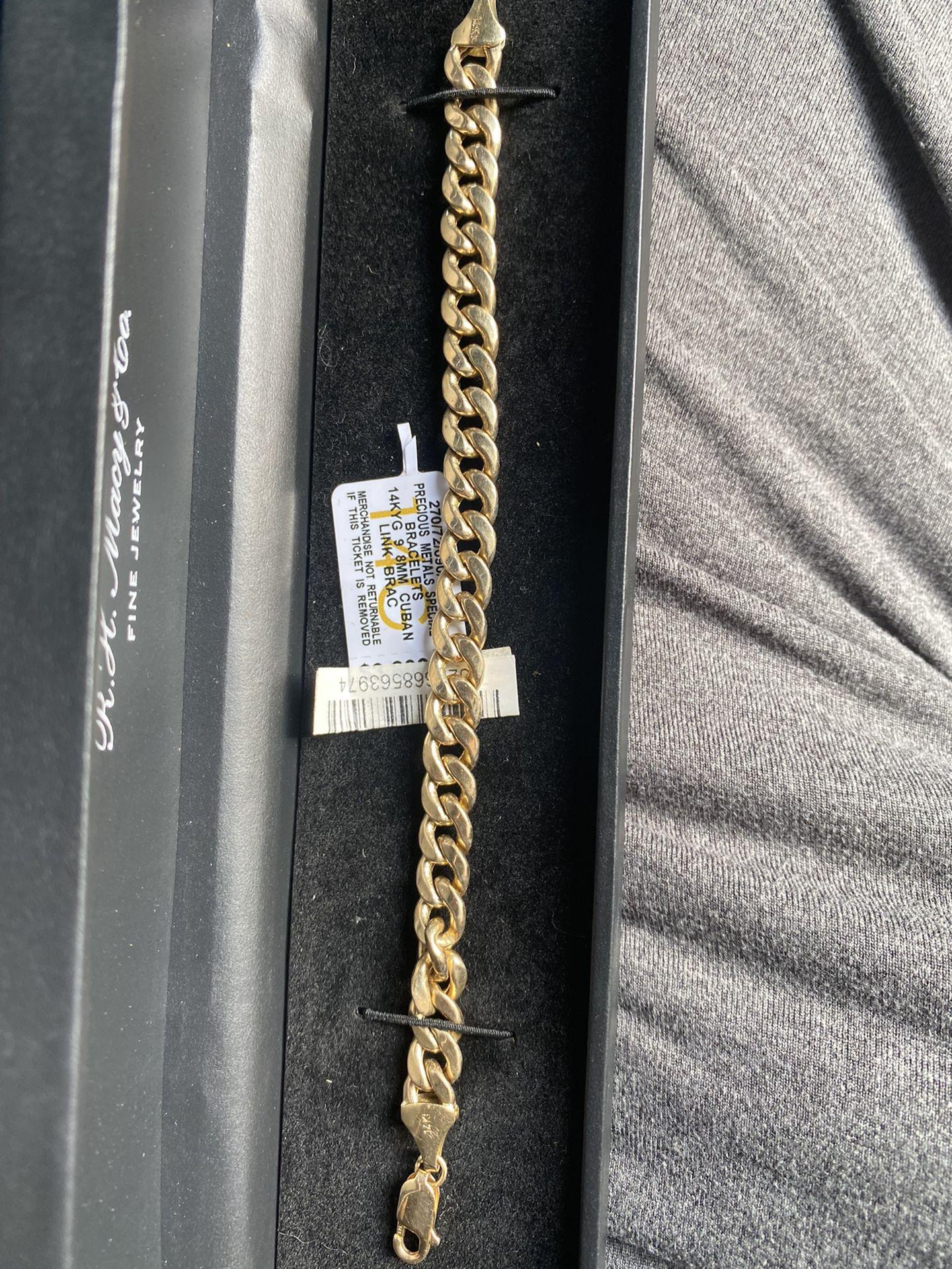 14kyg 7.1mm Cuban Link Braclet