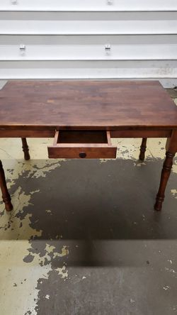 Cherrywood office Desk / w Small drawer Thumbnail