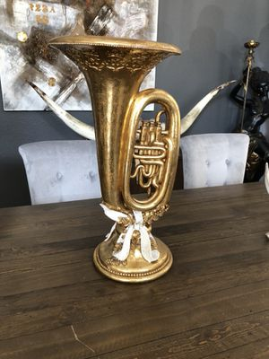 Beautiful saxophone style vase or decor for Sale in Orlando, FL