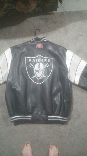 Raiders Leather Jacket Black and Gray XXL for Sale in Price, UT