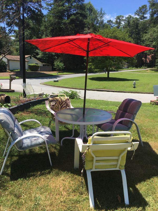 Outside patio / four chairs include umbrella (Home & Garden) in ...
