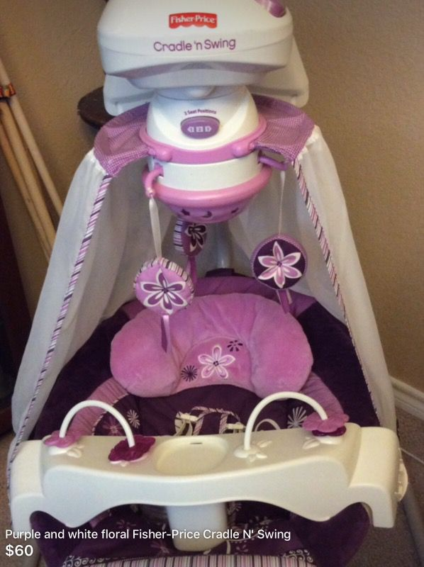 Fisher Price Starlight Cradle N Swing Sugar Plum For Sale