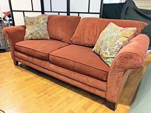 Bassett microfiber sofa/couch for Sale in Fairfax, VA