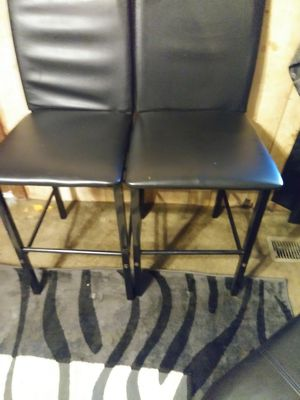 2 Black bar stools great condition for Sale in Durham, NC