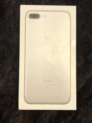 Apple iPhone 7 Plus 256GB silver Box only for Sale in Fort Washington, MD