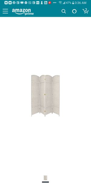 Photo ORIENTAL FURNITURE 7FT TALL 4 PANEL ROOM DIVIDER