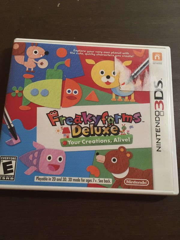 Freaky Forms Deluxe Creations Alive EXTREMLY Rare game Homebrew 3ds With  this game complete with case for Sale in Murfreesboro, TN - OfferUp