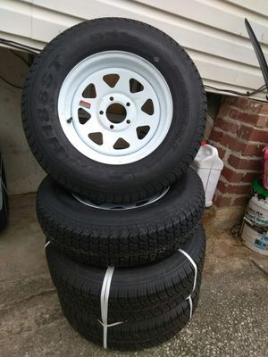 Trailer tires-rim new (4) 205/75/15 for Sale in Silver Spring, MD