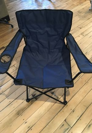 Folding chair with bottle holder for Sale in Cleveland, OH