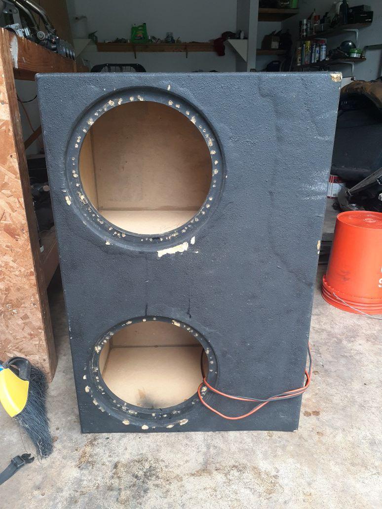 12inch box MDF wood