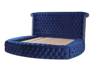 ✴️Glamour Velvet Navy Queen Storage Platform Bed Thumbnail