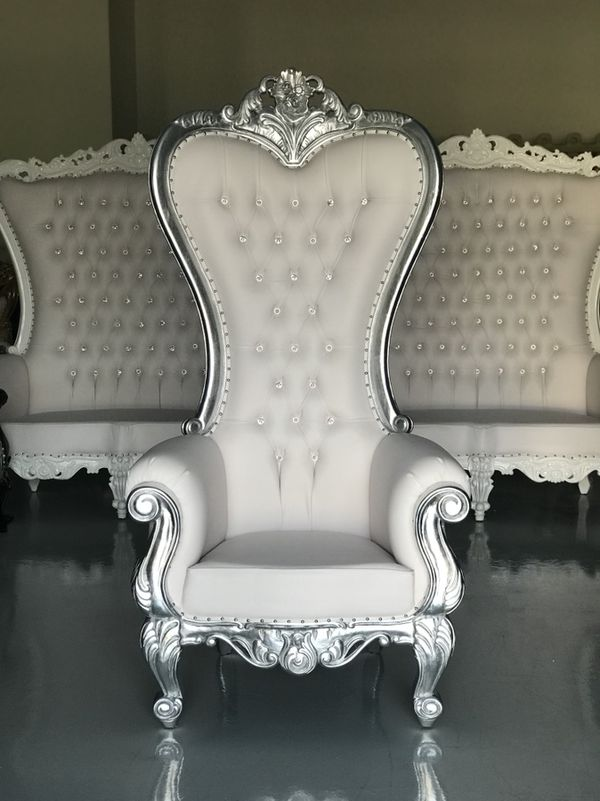 Throne Chairs King Queen Princess Royal Baroque Wedding Event Party Photography Hotel Lounge Boutique Furnitur Furniture In Montgomery Al Offerup