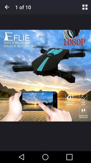RC Drone JDTOYS JD-18 2.0MP camera 1080P Wifi FPV Foldable Selfie Pocket Drone 6-Axis Gyro RC Quadcopter for Sale in Richmond, VA