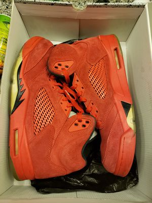 Jordan 5red suede size 10.5 for Sale in Fort Washington, MD