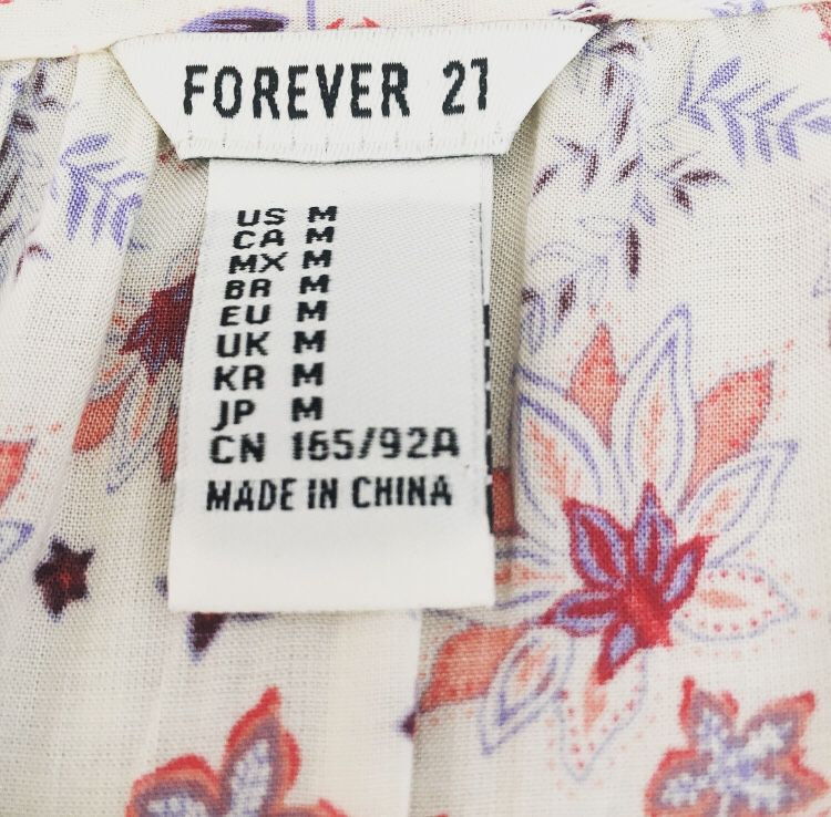 Forever 21 Size M Floral Dress 3/4 Sleeve