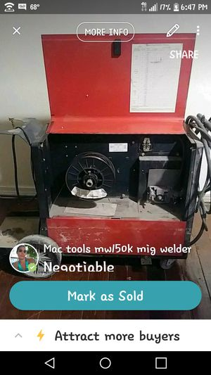 Mac tool mw150k mig welder for Sale in Gravette, AR