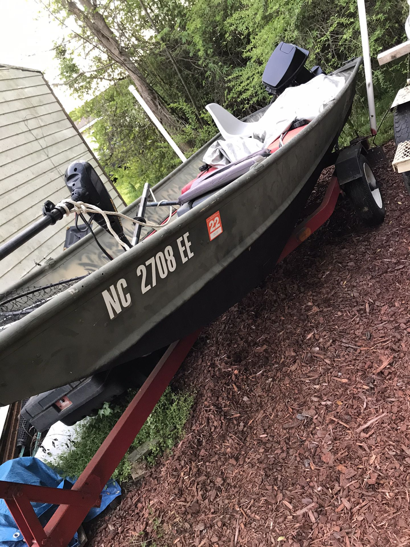 Photo 14 Lowe jon Boat With Trailer, Motor And Extras. Cash Or trade