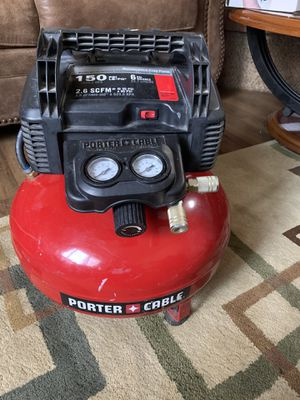 Photo Porter cable air compressor 150 psi 6 gallons