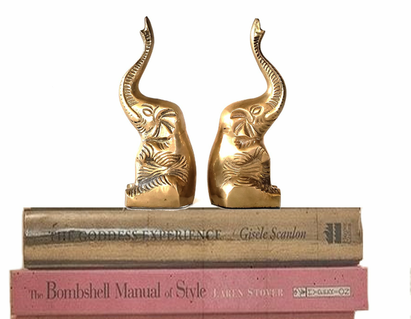 Authentic Brass Elephant Book Ends~ Made in India Vintage for Sale in  Menifee, CA - OfferUp