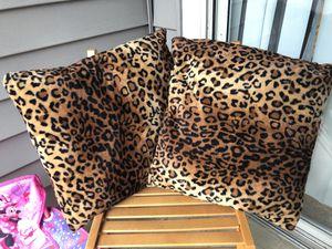 Leopard print pillows for Sale in Lincolnia, VA